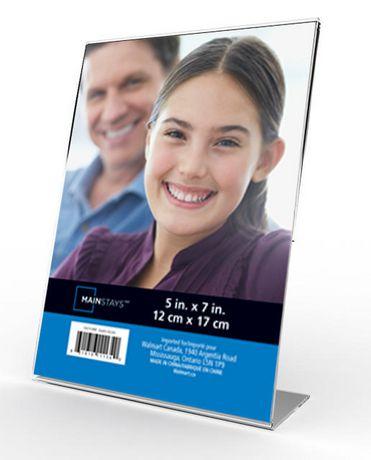 MAINSTAYS Quadro Acrylic Frame 5 x 7立式相框