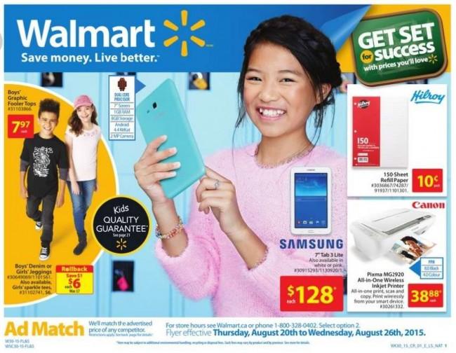 Walmart超市本周(2015.8.20-2015.8.26)打折海报
