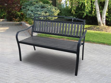 Home Trends Maygrove Endurowood Bench仿木不锈钢长椅