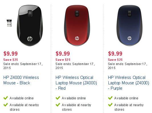 3款HP Z4000 Wireless Mouse 无线鼠标9.99元特卖