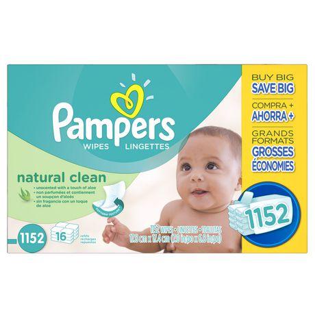 帮宝适天然婴儿清洁湿纸巾(1152张)