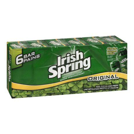 Irish Spring* Original Deodorant Soap 除臭香皂6块装,12小时除臭清爽保护