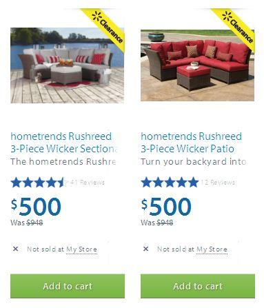 两款hometrends Rushreed 3-Piece Wicker Patio Sectional Sofa Set庭院沙发套装半价清仓