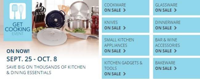 Best Buy上千款厨房用品特价销售,仅限9月25日-10月8日