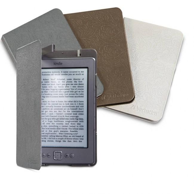 VERBATIM 98080 KINDLE(R) FOLIO CASE 珍珠白Kindle Fire平板保护套,带led灯0.01元清仓