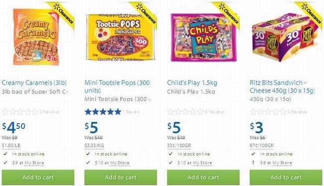 Walmart 4款糖果半价3-5元清仓