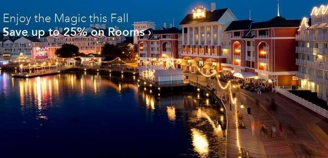 Disney Resort Hotels 迪士尼酒店秋季7.5折起促销