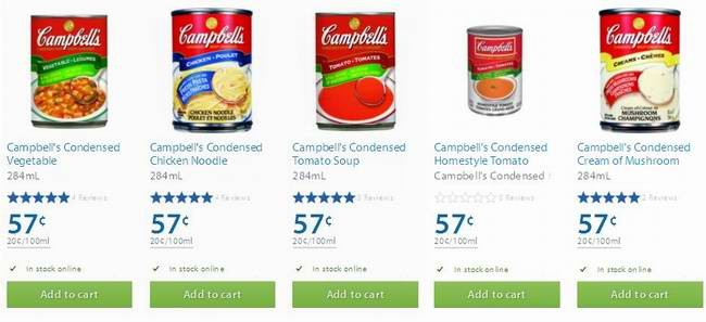 Walmart 多款 Campbell's Condensed 即食汤半价0.57元特卖