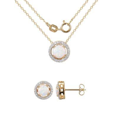 Necklace and Earring Set纯银镀金项链耳环套装19.99特卖!