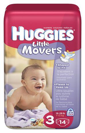 Huggies Little Movers - Conv. Pack 婴儿尿不湿纸尿裤(Size 3)14只装半价清仓