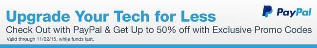 Newegg 百余款指定款电脑、电子产品等使用Paypal结账最高可享额外5折优惠!