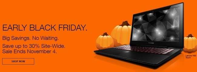 Lenovo 联想网店Early黑五特卖活动,11月4日前全站7折起并包邮!