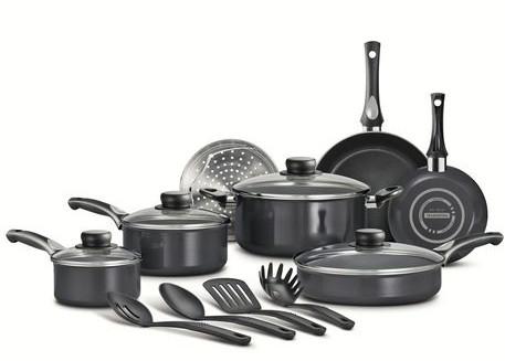 Tramontina 15-Piece Select Nonstick Cookware Set 15件套不粘锅特卖79.97元