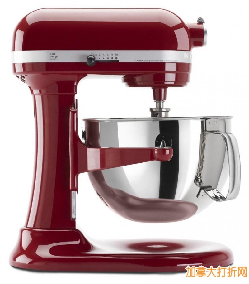 KitchenAid KP26M1XER 6 Qt. Professional 600系列立式搅拌机(多色可选)369.99元特卖,原价699.99元,包邮