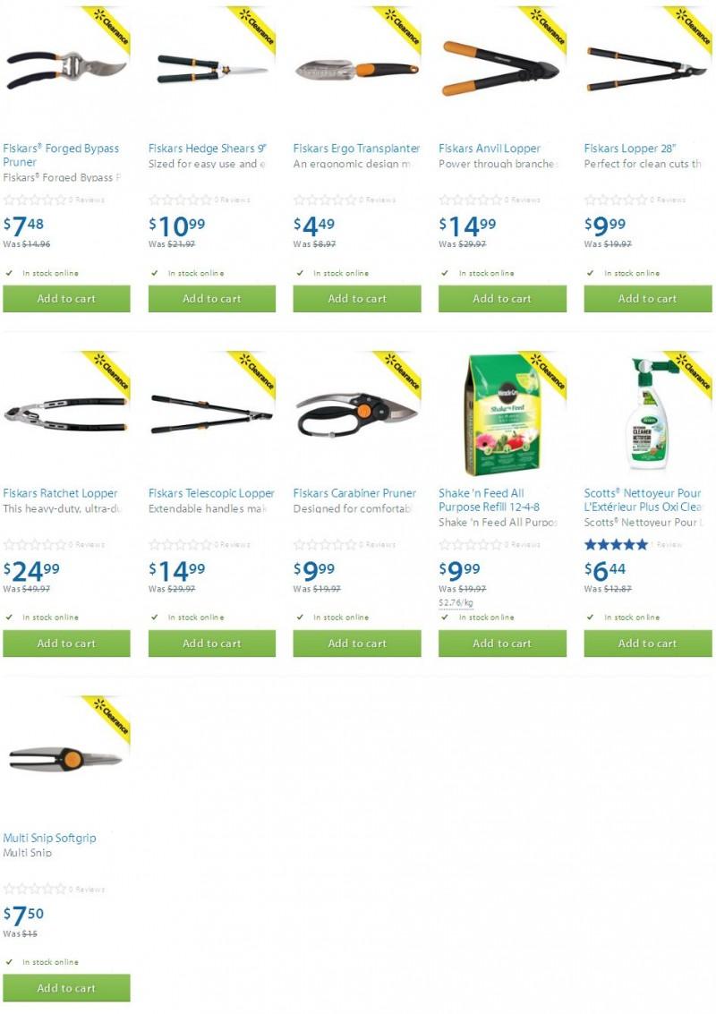 Walmart多款庭院用具、肥料、清洗剂半价清仓