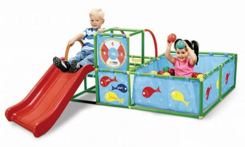 冬天室外太冷?eezy peezy Indoors Playset 室内儿童滑梯游乐组合仅售66.5元包邮!