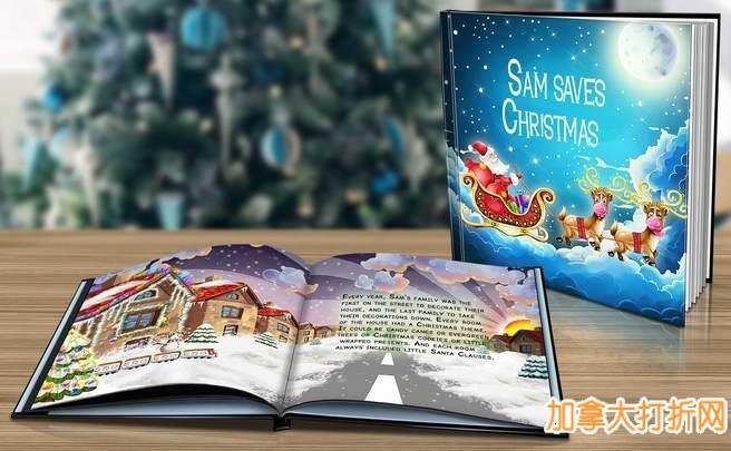 一份特别的圣诞礼物,让你的孩子成为故事书的主角!定制精美《Saving Christmas》故事书2折促销,只需5元!