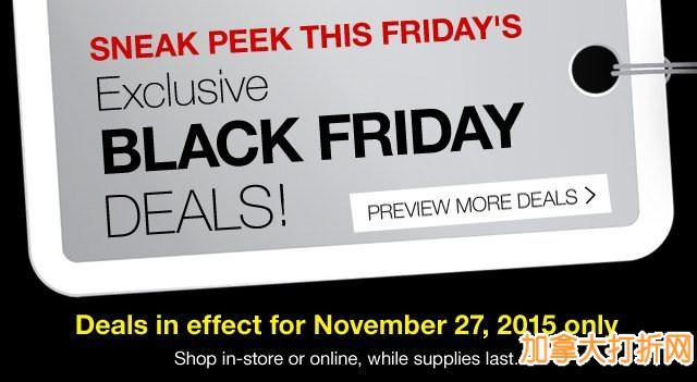 Staples 黑色星期五打折商品价格预览出炉,11月27日开售!