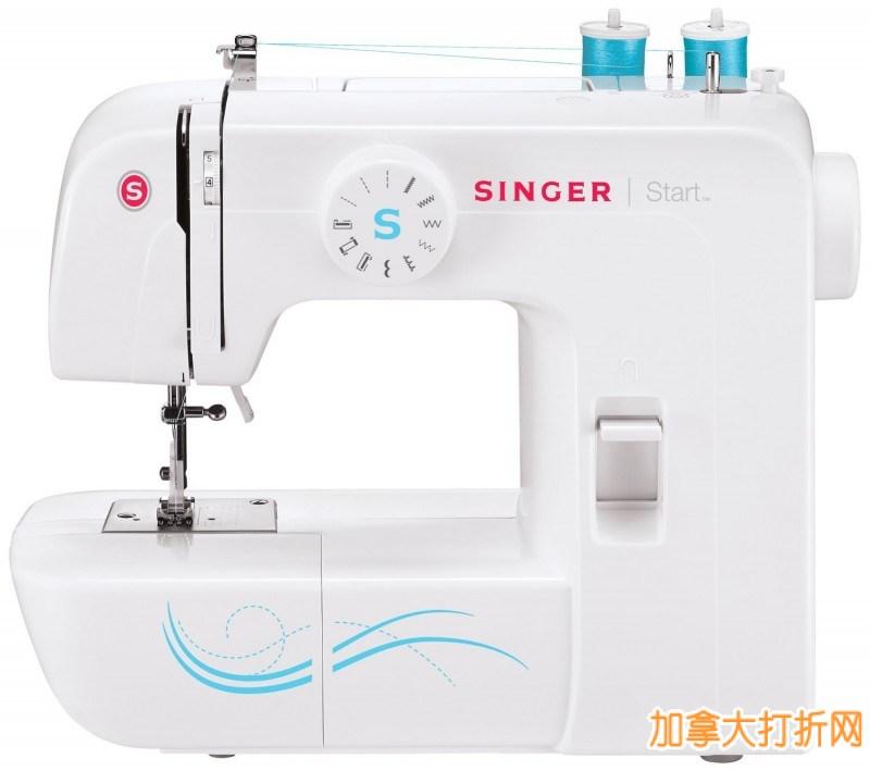 Singer 1304 胜家基础型电动缝纫机3.7折69.99元特卖!