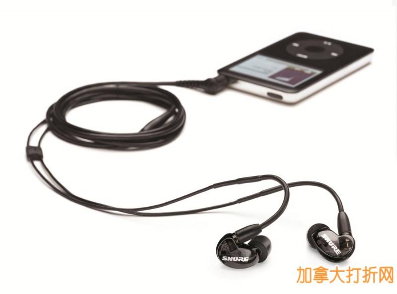 舒尔 SHURE SE215 K 现场监听入耳式耳机特价98.99元,原价145元,包邮