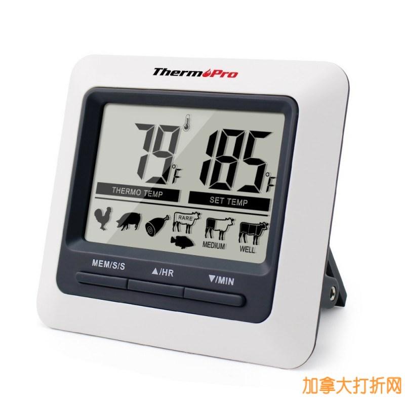 速度超快超精确!ThermoPro TP-04 多功能厨房烹饪探针式电子测温仪4折22.39元限量特卖并包邮!