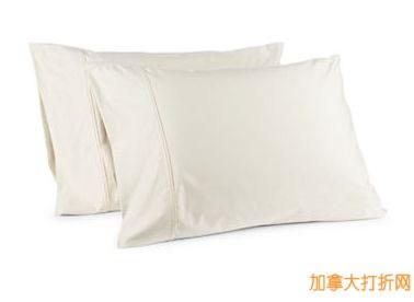 GLUCKSTEINHOME 650 Thread Count Egyptian Cotton Double Pleat Pillow Cases 纯棉枕套两件套13.49元清仓,两色可选!