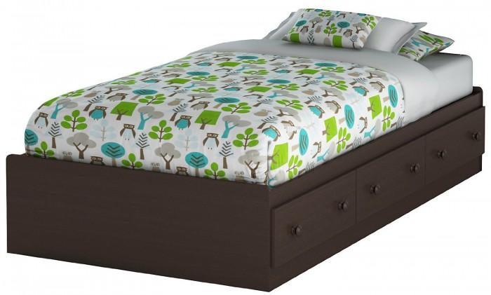 South Shore Furniture Twin Size 床带储物柜特价160元,原价223.99元,包邮
