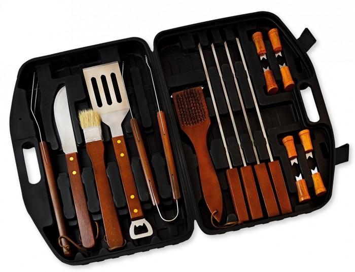 Flamen 18件套不锈钢便携式烧烤工具特价34.99元,原价79.99元,包邮