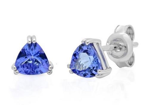 Amanda Rose Collection 1克拉宝石纯银耳钉特价59.99元,原价149元,包邮