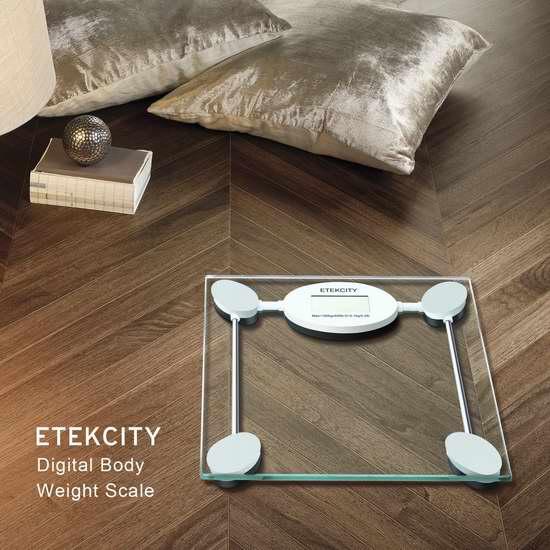 智能开关,省电又方便!Etekcity 高精度数字电子体重秤2.6折25.99元特卖并包邮!