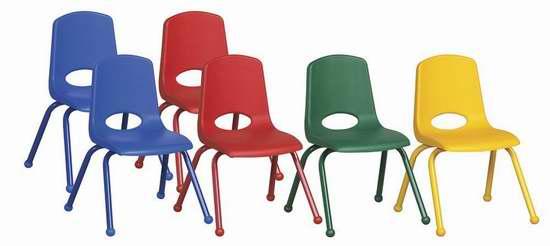 彩色款清仓再降价,每张不到13元!安全环保坚固耐用又舒适,每张比Costco还便宜24元!ECR4Kids 学校桌椅特卖,儿童椅子6件套2.8折 77.74元特卖!多色可选!