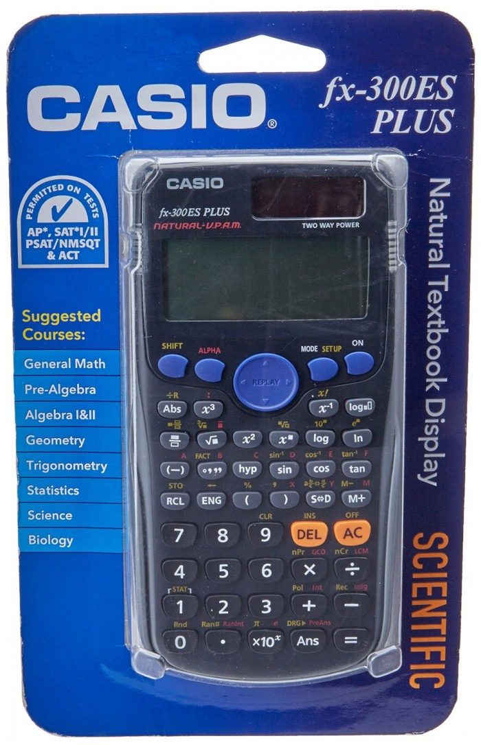 高中生必备,历史最低价!Casio 卡西欧 fx-300ES PLUS 太阳能科学计算器5.5折 11元特卖!
