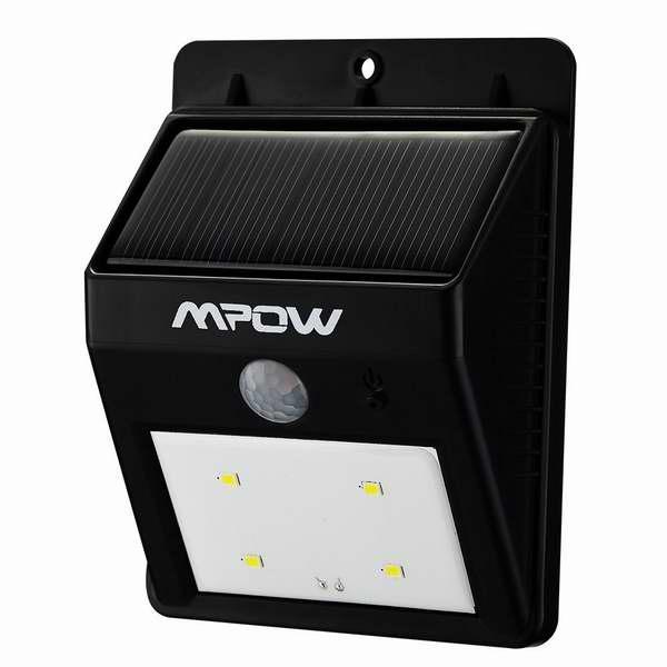历史最低价!Mpow 8 LED超亮太阳能防水感应灯2.9折 11.99元限时特卖!