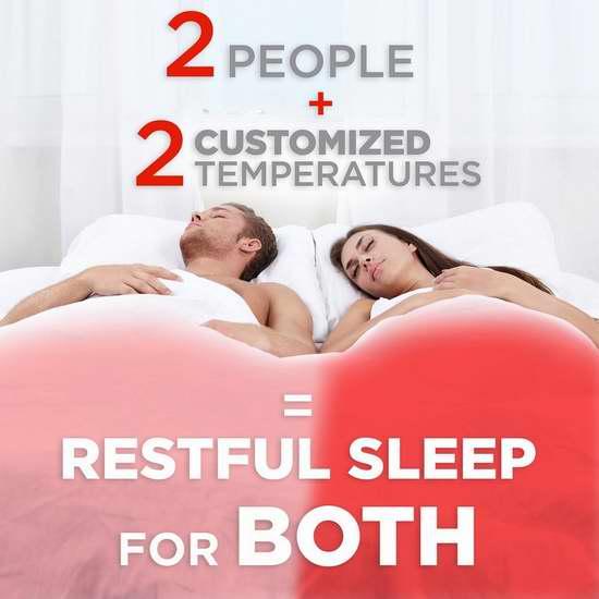 温暖舒适又安全,一张床可设两个温度!多款Sunbeam防水双控双温电热床垫保护套6折限时特卖!