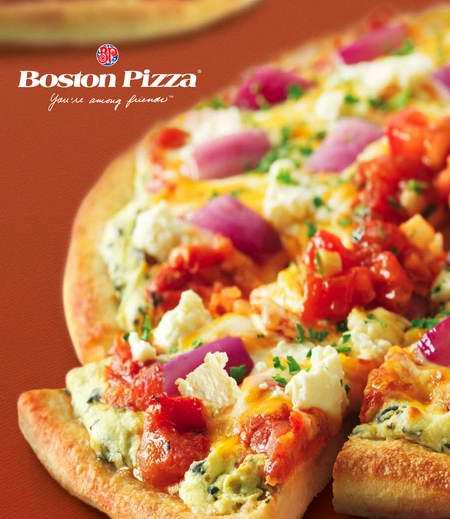 Boston Pizza 网上订购中号或大号披萨买一送一,仅限今日!
