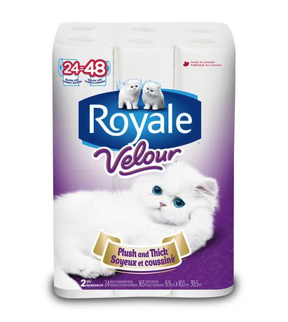 Royale Velour Bathroom Tissue Double 24卷双层厕纸4.2折 7.93元特卖!