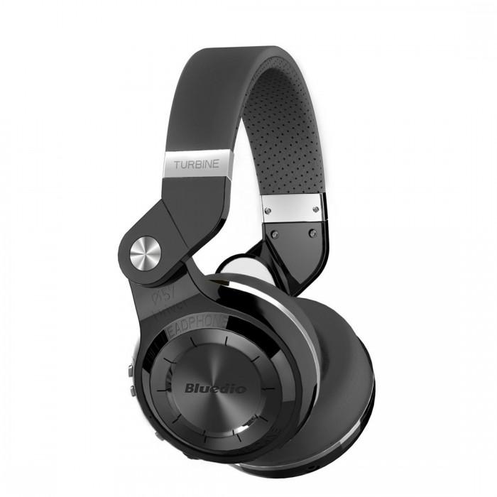 Bluedio T2S 蓝弦 黑色专业版旋转式头戴耳机 23.69加元限量特卖!4色可选!