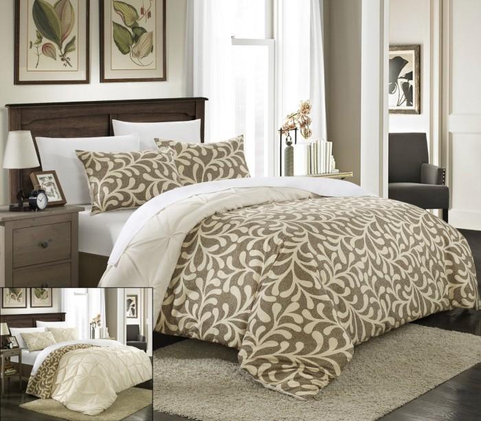 Chic Home 3件套双面布料被套+枕套特价79.38元,原价180.88元,包邮