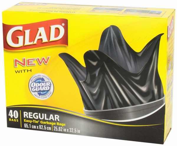 历史最低价!Glad Easy-Tie 75升易打结户外垃圾袋(40只装) 6.97加元!