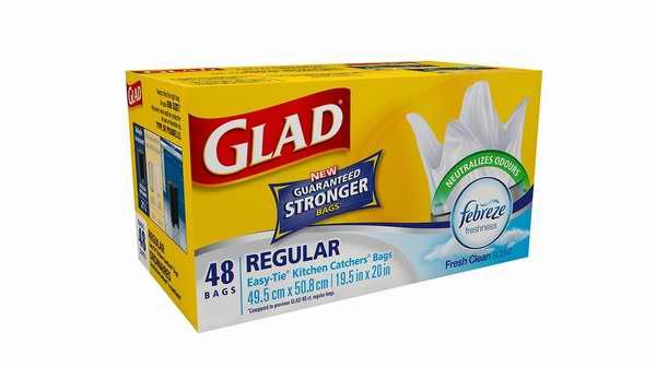 历史最低价!Glad Easy-Tie 易打结厨房用垃圾袋(48只装) 4.72加元!