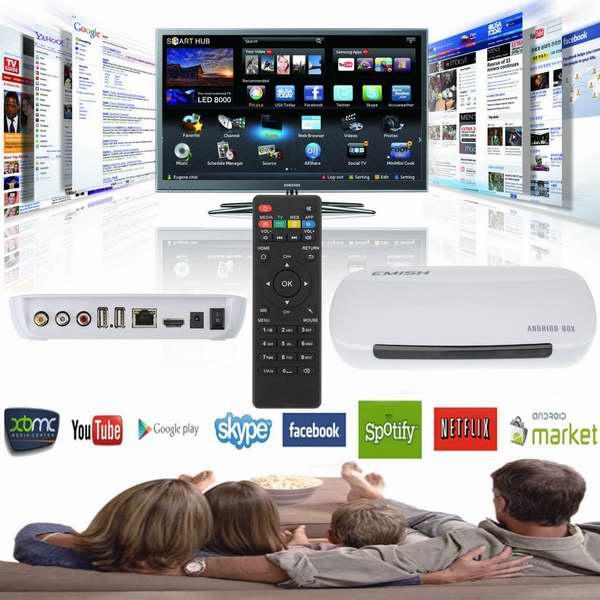 Patec 四核1080P安卓无线智能电视盒/媒体播放器4.3折 55.99元限量特卖并包邮!