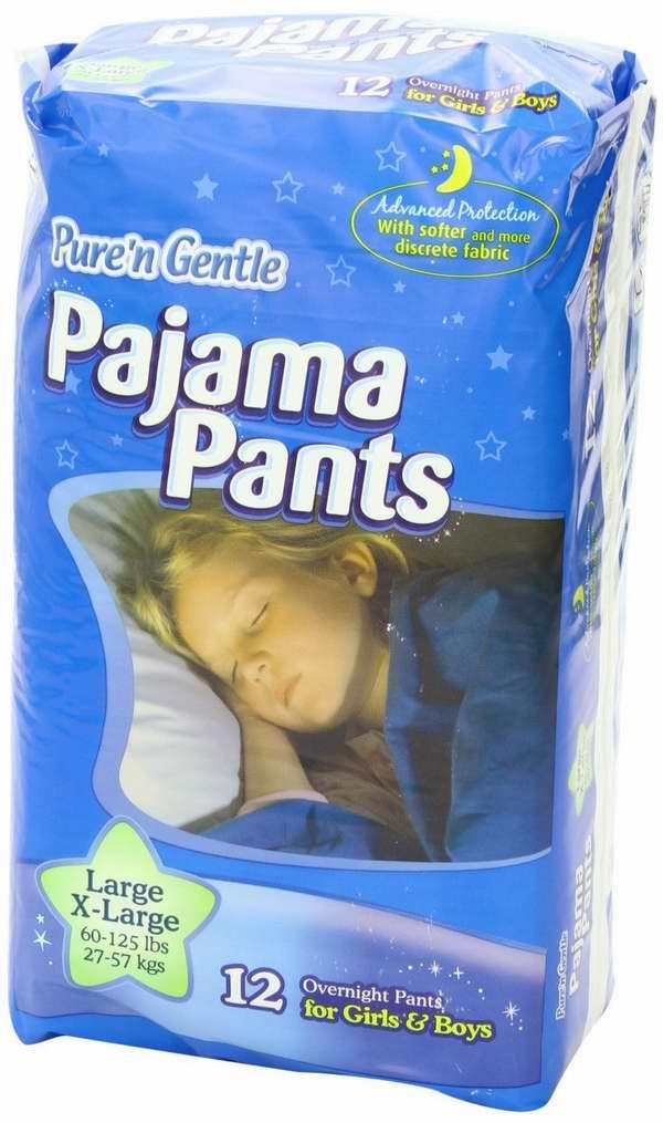 Pure 'n Gentle 超大号儿童/青少年(60-125磅)尿不湿/纸尿裤48只装2.2折 12.6元清仓!