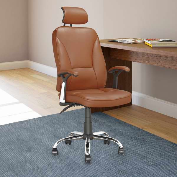 CorLiving LOF-699-O 高靠背人造革旋转办公椅4.3折 100.79元限时特卖并包邮!