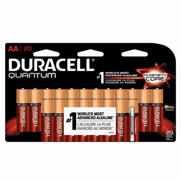 全球第一顶级高效碱性电池!Duracell Quantum 金霸王 AA 电池20只装14.96元、16只装11.97元限时特卖!