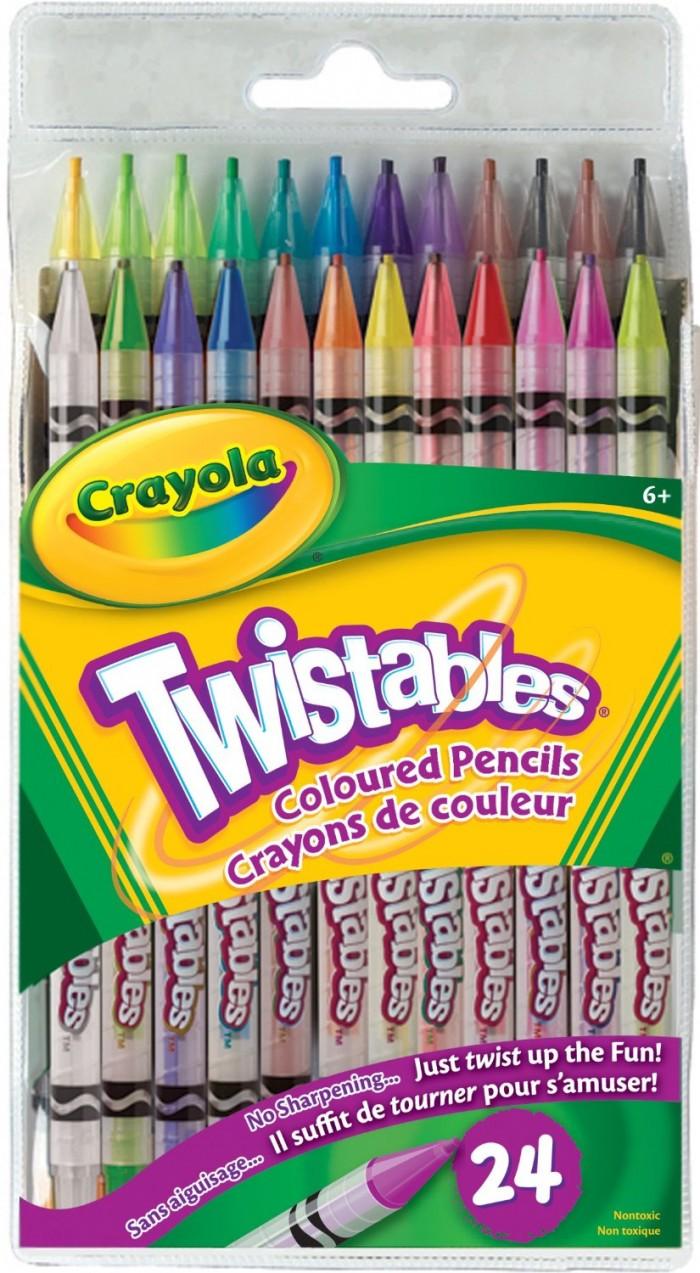 Crayola 绘儿乐 24 Twistables 彩色铅笔6.99元特卖,原价8.99元