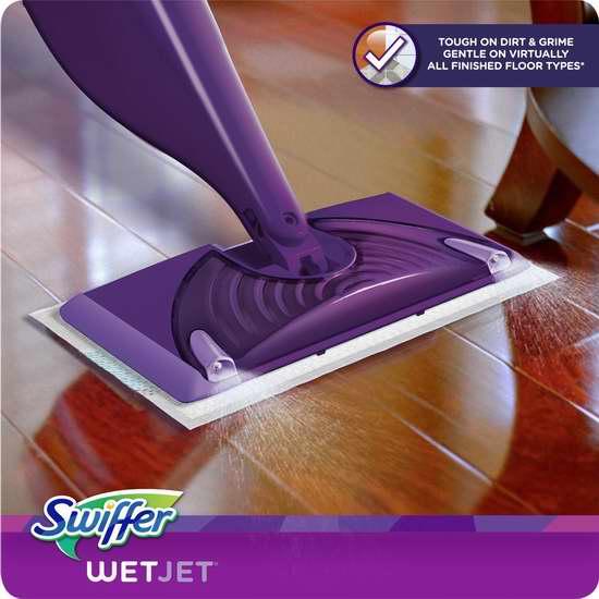 Swiffer Wetjet 地板/瓷砖 双喷头拖把套装7折 21.97加元特卖!