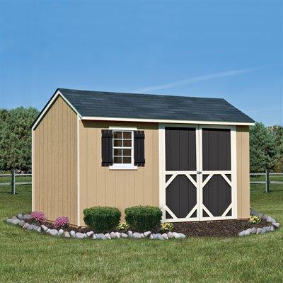 储物工作皆宜!Heartland Stratford 12x8英尺木质庭院储物棚屋5.9折 884.02元限时特卖!仅限今日!