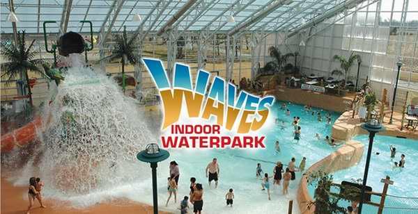 大瀑布 Americana Resort 酒店4-5人住宿及 Waves 室内水上乐园套票 圣诞期间低至98.1加元!