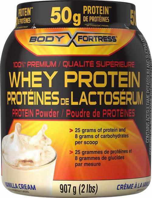 Amazon精选26款 Body Fortress 乳清蛋白粉、专用摇摇饮用水杯、饼干粉、咖啡因、复合维生素、Omega 3鱼油胶囊、肌酸粉、谷氨酰胺粉等折上折限时特卖,最高额外立减13.25元!