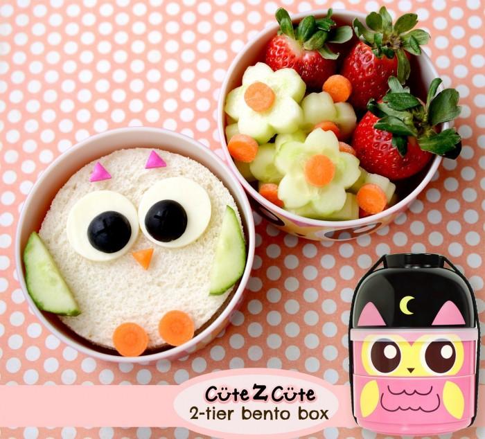 CuteZCute 2层猫头鹰图案儿童便当饭盒 23.36元特卖,原价31.19元